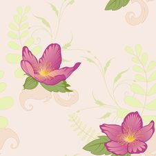 Free Floral Seamless Pattern Stock Images - 15427474