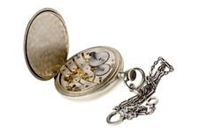 Free Old Pocket Watch With A Chain Stock Photos - 15427583