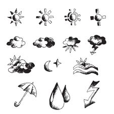 Free Weather Hand Draw Element Stock Photos - 15427833