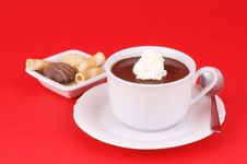 Free Cup Of Hot Chocolate With Whipped Cream Royalty Free Stock Photos - 15427878
