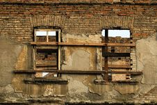 Free Ruin Brick Facade Stock Photography - 15428372