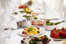 Free Banquet Table Royalty Free Stock Photography - 15428487