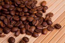 Free Coffee Beans On Wood Wall Royalty Free Stock Images - 15428839