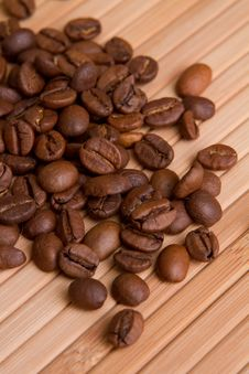 Free Coffee Beans On Wood Wall Stock Photo - 15428840