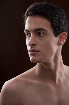 Free Attractive Young Man With Bare Chest Royalty Free Stock Photography - 15429027