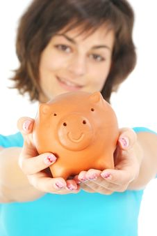 Free Piggy Bank Royalty Free Stock Photo - 15429425