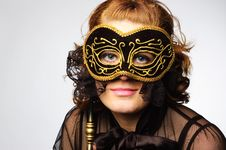 Free Lady Mask Royalty Free Stock Photo - 15429435