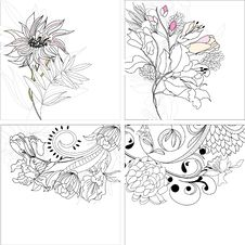 Free Set 9, Floral Background Royalty Free Stock Photos - 15429738