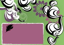 Free Abstracte Green And Purple Flowers Stock Images - 15429924