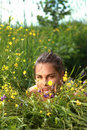 Free Beautiful Girl Lays On A Grass Stock Photos - 15432313