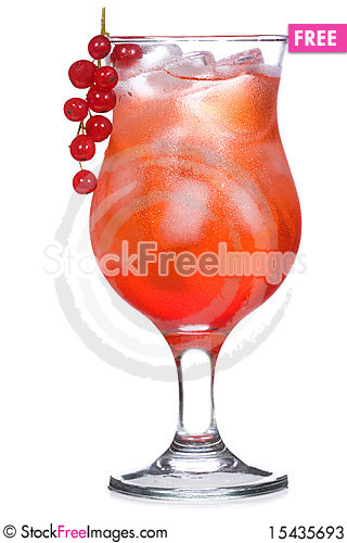 Free Red Cocktail With Red Currant Stock Photos - 15435693