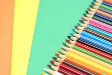 Free Pencil Crayons Stock Photography - 15430032