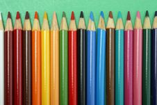 Free Row Of Pencil Crayons Royalty Free Stock Images - 15430049