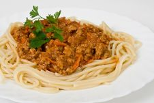 Free Spaghetti With Meats Royalty Free Stock Photos - 15430188