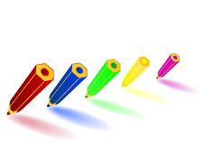Vector Illustration Colour Pencils Stock Photography
