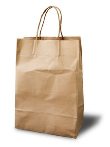 Free Front Brown Crumpled Peper Bag Stock Images - 15430514