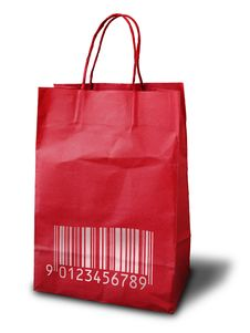 Free Red Crumpled Paper Bag Stock Photography - 15430562
