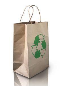 Free Brown Crumpled Peper Bag Royalty Free Stock Photo - 15430585