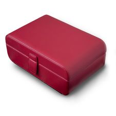 Red Leather Box Royalty Free Stock Images