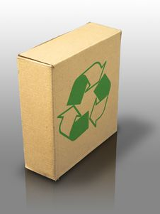 Free Recycle Close Brown Paper Box Royalty Free Stock Image - 15430686