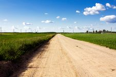 Free Road To Village Stock Image - 15431101