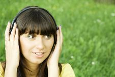 Free Young Woman Listening To Music Stock Photo - 15431120