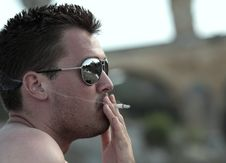 Male Smoker Stock Photo