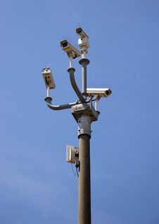 Security Cameras Blue Sky