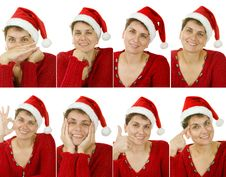 Free Woman In A Santa Claus Hat Royalty Free Stock Image - 15431296