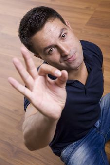 Free Man Showing Ok Gesture Stock Photography - 15431512