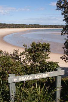 Free Beach Access Royalty Free Stock Photo - 15432615