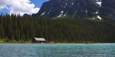 Free Lake Louise Boat House Royalty Free Stock Photo - 15433195