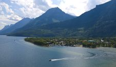 Free Bird View Of Waterton Village Stock Photography - 15433372