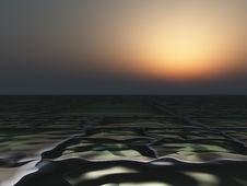 Dark Horizon Background Stock Image