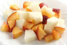 Melon And Nectarine Salad Royalty Free Stock Image