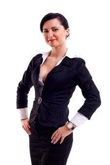 Free Business Woman With Hands On Hips Stock Photos - 15434483