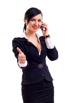 Free Business Woman On The Phone Stock Images - 15434504