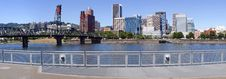 Free Skyline Panorama, Portland Oregon. Royalty Free Stock Photo - 15435105