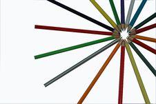 Free Colour Pencils Royalty Free Stock Photos - 15435388