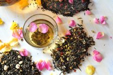 Tea With The Petals Of Roses Stock Photo