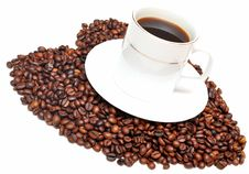 Free Cup Of Coffee With Heart Royalty Free Stock Images - 15435669