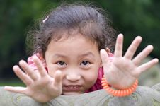 Free Happy Little Girl Stock Photography - 15435802