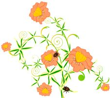 Free Abstract Floral Background Royalty Free Stock Photography - 15435837