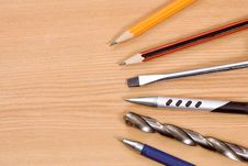 Free Tools, Pencil And Pens Stock Images - 15436494