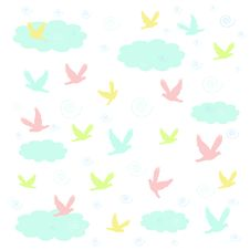 Pastel Birds Royalty Free Stock Photo