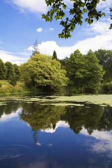 Free Lake And Gardens At Forde Abbey, Dorset Stock Image - 15436861