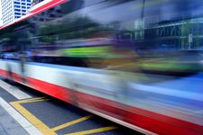 Free High-speed And Blurred Bus Trails Royalty Free Stock Photo - 15436995