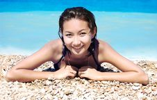 Free Young Girl On The Beach Stock Photography - 15437362