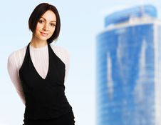 Free Young Beautiful Businesswoman Royalty Free Stock Photography - 15437407
