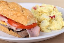 Sub Sandwich Meal Stock Image